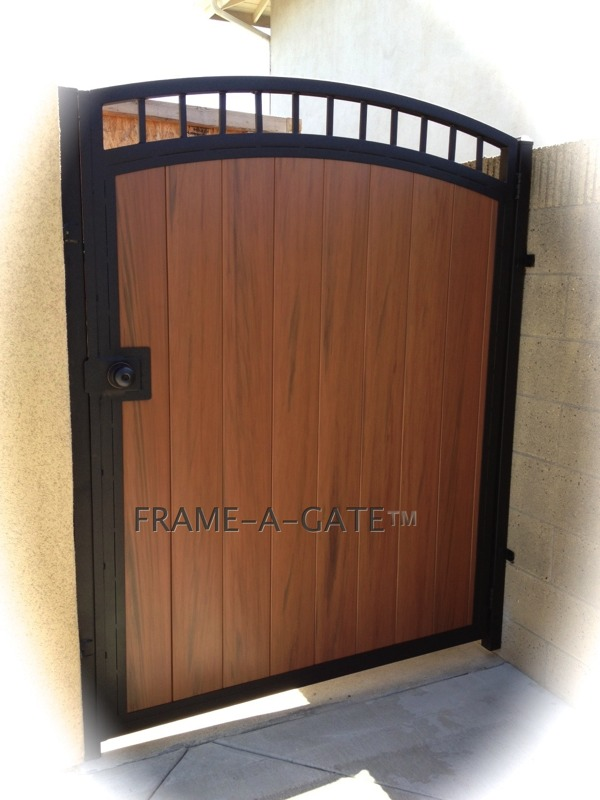 Steel Framed Vinyl Gates